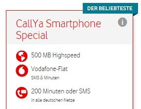 Vodafone CallYa Smartphone Special